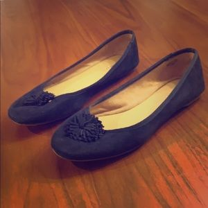 Talbots navy blue ballet slippers